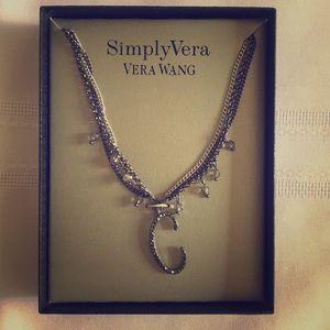 "Simply Vera ""C"" Statement Necklace"